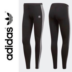 ADIDAS 3 STRIP ORIGINAL BLACK WHITE LEGGINGS XL